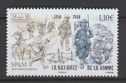 """Saint Pierre Et Miquelon 2016 :    N° 1172 """" La Bataille De La Somme """" -  Neuf **  - - St.Pierre & Miquelon"""