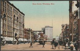 Main Street, Winnipeg, Manitoba, C.1910 - Valentine's Postcard - Winnipeg