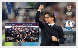 Kroatië / Croatia - Postfris / MNH - Sheet Kroatië Op WK Voetbal 2018 - Kroatië