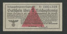 GERMANY WW2 POW CAMP MONEY 1 Reichspfennig Lagergeld 1939-45, Ros#515 UNC - [ 9] Duitse Bezette Gebieden