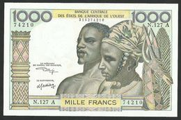 WEST AFRICAN STATES 1000 FRANCS ND (1966) PICK # 103Ak UNC - West-Afrikaanse Staten