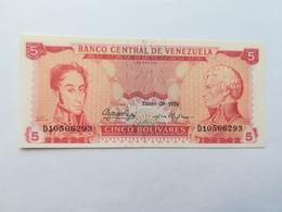 VENEZUELA 5 BOLIVARES 1974 - Venezuela