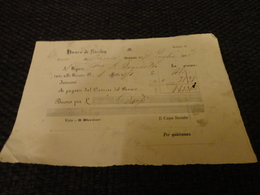 BUONO SCONTO  INTERESSI  BANCO DI SICILIA 1875- MODELLO 15- - Banca & Assicurazione