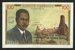 CAMEROON CAMEROUN 100 FRANCS 1962 PICK #10 VF+XF - Cameroun
