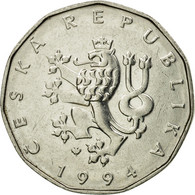 Monnaie, République Tchèque, 2 Koruny, 1994, TB+, Nickel Plated Steel, KM:9 - Tchéquie