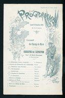 PROGRAMME  CONCERT DU CHAMP DE MARS LE 8 OCTOBRE 1900 (13X20 CM) PARIS ?? - Programmes
