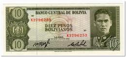 BOLIVIA,10 PESOS,L.1962,P.154,AU - Bolivie