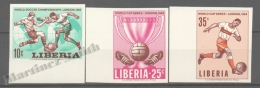 Liberia 1966 Yvert 412-14, London, Football World Cup  - Non Perforated- MNH - Liberia