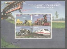 Liberia 2000 Yvert 2362-65, Trains, Locomotives, Steam Engines - MNH - Liberia