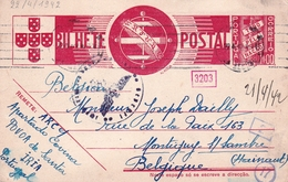 Carte Postale Póvoa De Santa Iria Portugal 1942 Censure Censor Seconde Guerre Mondiale WW2 - 1910-... République