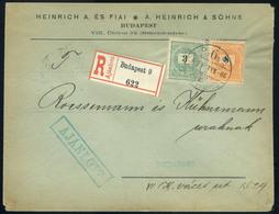 BUDAPEST 1898. Helyi Ajánlott Levél, Céges Levélzáróval  /  BUDAPEST 1898 Local Reg. Letter Corp. Seal - Used Stamps