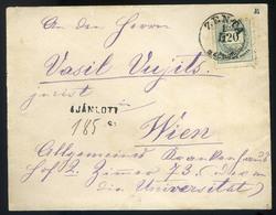 ZENTA 1878. Ajánlott 20Kr-os Levél Bécsbe Küldve  /  ZENTA 1878 Reg. 20Kr Letter To Vienna - Used Stamps