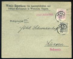 VERSEC 1898. Céges Levél 2+1Kr Svájcba Küldve  /  VERSEC 1898 Corp. Letter 2+1Kr To Switzerland - Used Stamps