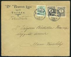 TORDA 1896. Szép Céges Levél, Krajcáros Bérmentesítéssel Marosvásárhelyre  /  TORDA 1896 Nice Corp. Letter Kr Frank. To  - Used Stamps