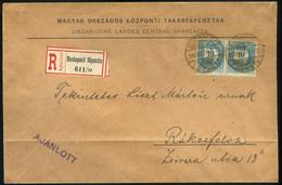 BUDAPEST 1894. Ajánlott Levél 10kr Pár Rákosfalvára Küldve  /  BUDAPEST 1894 Reg. Letter 10Kr Pair To Rákosfalva - Used Stamps