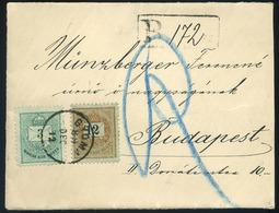 GYOMA 1889. Ajánlott Levél 12+3Kr Bérmentesítéssel Budapestre. Szép és Ritka Darab!  /  GYOMA 1889 Reg. Letter 12+3Kr Fr - Used Stamps