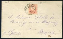 TÉGLÁS 1875. Szép Krajcáros Levél Eperjesre Küldve  /  TÉGLÁS 1875 Nice Kr Letter To Eperjes - Used Stamps
