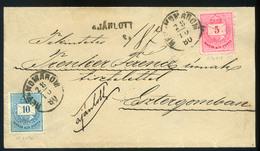 RÉVKOMÁROM 1880. Szép Ajánlott Levél Esztergomba Küldve  /  RÉVKOMÁROM 1880 Nice Reg. Letter To Esztergom - Used Stamps