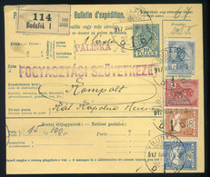 BUDAFOK 1917. Négyszínű Csomagszállító , 1 Láda Pálinka Kompoltra Küldve  /  BUDAFOK 1917 4 Color Parcel P.card 1 Crate - Parcel Post