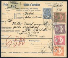 SZEGHALOM 1916. Szép Négyszínű Csomagszállító Küldve   /  SZEGHALOM 1916 Nice 4 Color Parcel P.card - Used Stamps