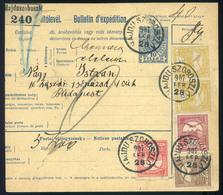 HAJDÚSZOBOSZLÓ 1907. Szép Négyszínű Csomagszállító Budapestre Küldve , Huszár Alakulathoz  /  HAJDÚSZOBOSZLÓ 1907 Nice 4 - Used Stamps