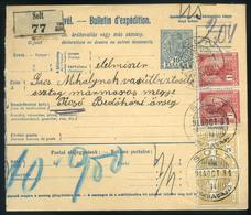 SOLT 1914. Csomagszállító Técsőre Küldve   /  SOLT 1914 Parcel Postcard To Tecső - Used Stamps