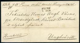 FIUME 1844. Hivatalos Levél Ungvárra Küldve  /  FIUME 1844 Official Letter To Ungvár - Hungary