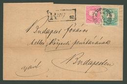 """BUDAPEST 1888. Végrehajtási """"rendelvény"""" , Helyi Ajánlott Küldemény - Used Stamps"""