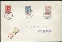 BUDAPEST 1917. Hadi Segély Koronás értékek Ajánlott Levélen Berlinbe Küldve, érkezési Bélyegzéssel  /  BUDAPEST 1917 Mil - Used Stamps