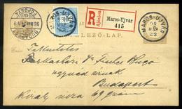 MAROSÚJVÁR 1898.  Kiegészített Ajánlott Díjjegyes Levlap Budapestre Küldve  /  MAROSÚJVÁR 1898 Uprated Reg. Stationery P - Used Stamps