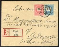 KAJAL 1893. Szép Ajánlott Levél Budapestre Küldve  /  KAJAL 1893 Nice Reg. Letter To Budapest - Used Stamps