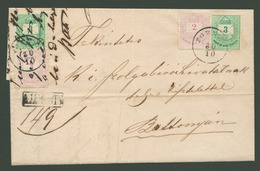 TORNYA / Turnu 1879, Krajcáros Ajánlott Levél 3*3Kr +3*2Kr Bérmentesítéssel Battonyára Küldve  /  TORNYA 1879 Kr Reg. Le - Used Stamps