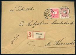 OROSHÁZA 1898. Ajánlott Levél 15Kr+5Kr Mezőkovácsházára Küldve  /  OROSHÁZA 1898 Reg. Letter 15Kr+5Kr To Mezőkovácsháza - Used Stamps