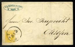 PEST 1868. 2kr-os Céges Levél Budára Küldve  /  PEST 1868 2 Kr Corp. Letter To Buda - Used Stamps