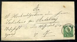 BUDA 1872. Helyi 3Kr-os Levél, Szép Bélyegzéssel , Tartalommal  /  BUDA 1872 Local 3 Kr Letter Nice Pmk With Content - Used Stamps