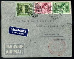 BUDAPEST 1938. Dekoratív Légi Levél Argentínába Küldve - Hungary