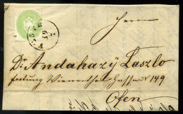 PESTH 1866. Helyi 3kr-os Levél , Tartalommal ( MBA 22000)  /  PESTH 1866 Local 3 Kr Letter With Content (MBA 22000) - 1850-1918 Empire