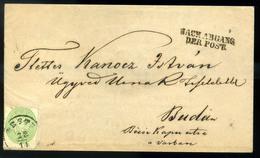 PESTH 1863. 3kr Helyi Levélen ,szép Darab! ( MBA 90000)  /  PESTH 1863 3Kr Local Letter Nice Piece! (MBA 90000) - Used Stamps
