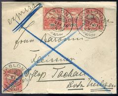 JABLONIC 1902. Expressz Levél 4*10f Ausztriába Küldve  /  JABLONIC 1902 Express Letter 4*10f To Austria - Used Stamps