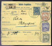 BOSÁC 1913. Csomagszállító Háromszínű Bérmentesítéssel Stubnyafürdőre Küldve  /  BOSÁC 1913 Parcel Postcard 3 Color Fran - Used Stamps