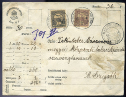 HAVASMEZŐ 1903. Értéklevél Máramarosszigetre Küldve  /  HAVASMEZŐ 1903 Money Letter To Máramarossziget - Used Stamps
