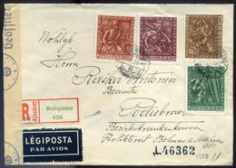 BEREGSZÁSZ 1943. Cenzúrázott Légi Levél Cseh Területre Küldve, Ritka!   /  BEREGSZÁSZ 1943 Cens. Airmail Letter To Czech - Used Stamps