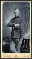 EPERJES 1905. Cca. Divald : Katona Portré, Cabinet Fotó  /  EPERJES Ca 1905 Divald: Soldier Portrait, Cabinet Photo - Photographs