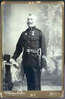 KOMÁROM 1910. Cca. Wittmann: Katona Portré, Cabinet Fotó  /  KOMÁROM Ca 1910 Wittmann: Soldier Portrait Cabinet Photo - Other