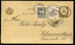 RÁKOSPALOTA 1898. 2kr+1Kr-ral Kiegészített Díjjegyes Lap Chilébe Küldve. Dekoratív, Ritka Darab!  /  RÁKOSPALOTA 1898 2K - Used Stamps