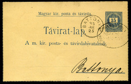 BATTONYA 1889. 35Kr-os Díjjegyes Távirat Lap Kiegészítéssel Makóra Küldve  /  BATTONYA 1889 35 Kr Stationery Telegraph C - Used Stamps