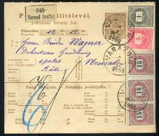 VARAZDIN 1889. Csomagszállító, Szép Krajcáros Bérmentesítéssel Újvidékre  /  VARAZDIN 1889 Parcel P.card Nice Kr Frankin - Used Stamps
