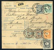 KARÁNSEBES 1894. Csomagszállító, Szép ötbélyeges, Négyszínű Bérmentesítéssel Temesvárra   /  KARÁNSEBES 1894 Parcel P.ca - Used Stamps