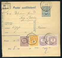 ÚJMOLDOVA 1892 Csomagszállító, Szép Krajcáros Bérmentesítéssel Resicára Küldve  /  ÚJMOLDOVA 1892 Parcel P.card Nice Kr  - Used Stamps