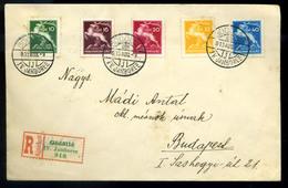 SCOUT GÖDÖLLŐ 1933. Cserkész Jamboree  Ajánlott Levél Budapestre Küldve  /  1933 Boy Scout Jamboree Reg. Letter Budapest - Hungary
